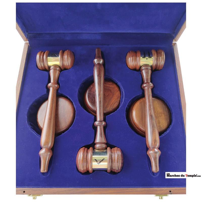 Objets et Cadeaux Coffret en bois 3 maillets