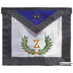 Décors du 4ème degré Tablier du 4ème Grade du REAA - Z cursif - Œil noir