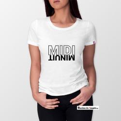 Vestiaire Maçonnique T-shirt 100% coton Bio Midi Minuit - Femme