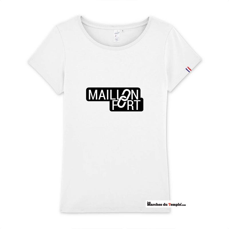 Vestiaire Maçonnique T-shirt 100% coton Bio MAILLON FORT - Femme