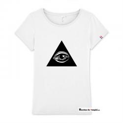 Vestiaire Maçonnique T-shirt 100% coton Bio Oeil de la Providence - Femme