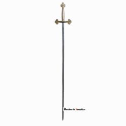 Accessoires Décors Épée tréflée - garde en métal