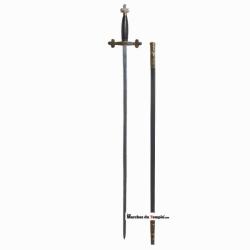Accessoires décors Épée tréflée - garde effet cuir