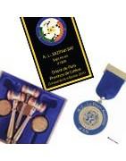 Médailles maçonniques et bannières de Loge sur-mesure