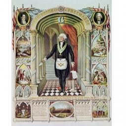 Georges Washington en habits, sous la clé de voûte et le G, entre deux piliers dédicacés : l'une au trio Sagesse, Force et Beauté, l'autre aux vertus théologales. Sous les regards bienveillants de Lafayette et Jackson. Né le 22 février 1732, initié le 4 novembre 1752 à Fredericksburg, dans la Loge Virginia n°4, passé Compagnon le 3 Mars 1753 et élevé Maître le 4 août 1753. Il était donc Maître à 21 ans, ce qui peut paraître jeune pour certains !  Et pour vous, y-a-t-il un âge minimum pour être initié? ▪️ ▫️ ▪️ ▫️ ▪️ #famousmason #washingtonmasonic #symbolesmaçonniques #autel #gravuremaçonnique #symbol #symobolemaçonnique #masonicsymbole #équerreetcompas #squareandcompass #équerre #square #compas #logemaçonnique #francmaçon #demidiaminuit #godf #gldf #glnf #glff #droithumain #freemasons #francmaconnerie #francmaçon #maçonnique #vintagemasonic #freemason #masonic #francmasoneria #freimaurer #lesmarchesdutemple